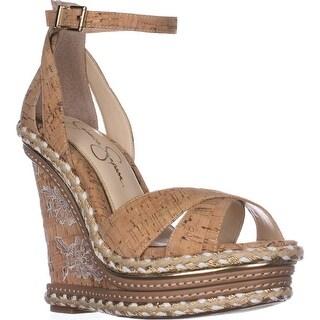Jessica Simpson Ahnika Wedge Sandals, Natural Cork