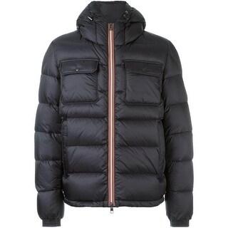 Moncler Men's Morane Black Down Puffer Coat 5