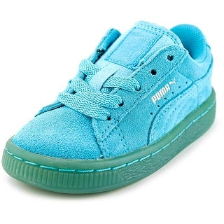 Puma Suede Jr Toddler Round Toe Suede Blue Sneakers