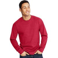Hanes X-Temp® Men's Long-Sleeve T-Shirt - Size - S - Color - Salsa Red