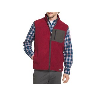 G.H. Bass & Co. Mens Vest Fleece Mixed Media - L