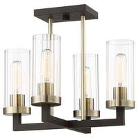 """Minka Lavery 3049 Ainsley Court 4 Light 16"""" Wide Semi-Flush Ceiling Fixture with"""
