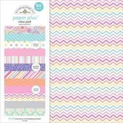 """Pastel - Doodlebug Paper Plus Value Pack 12""""X12"""" 8/Pkg"""