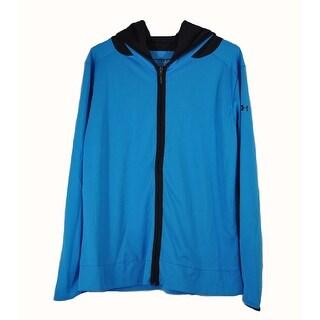 Under Armour Womens Medium Blue with Black Running Heatgear Zip Up Jacket NWOT
