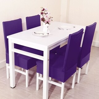 Unique Bargains Chair Covers for Dining Room Purple