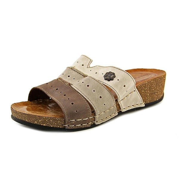 Wanderlust 3 Banded Slide Women Open Toe Leather Slides Sandal