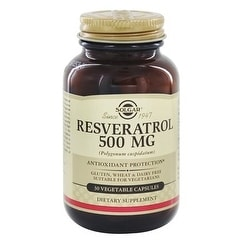 Shop Solgar Resveratrol 500 Mg Vegetable Capsules 30