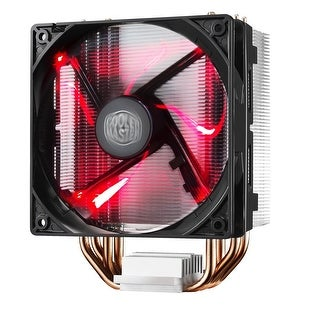 Cooler Master Hyper 212 LED CPU Cooler with PWM Fan, Four Direct Contact Heat Pipes, Unique Blade Design and Red LEDsQ
