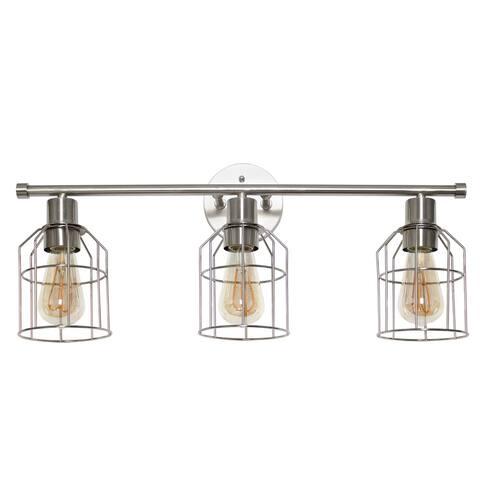 Elegant Designs 3 Light Cage Bathroom Vanity Light - Brushed Nickel - Not Available