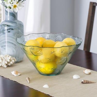 French Home Coastal Salad Bowl & Olive Wood Server Hands