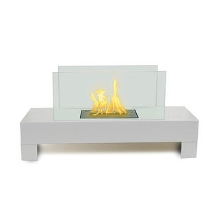 Gramercy (High Gloss White) Bio Ethanol Ventless Fireplace
