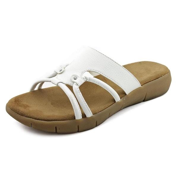 Aerosoles Wip Away Women Open Toe Synthetic White Slides Sandal