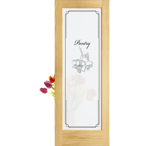 """Frameport FPG-PD-PAN-6-2/3X2-2/3 Frosted Privacy Glass 32"""" by 80"""" - Unfinished"""
