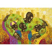 ''The Spirit of Fatherhood'' by Larry Poncho Brown African American Art Print (22 x 29 in.)