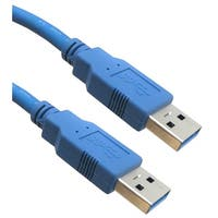 USB 3.0 Cable, Blue, Type A Male / Type A Male, 3 foot