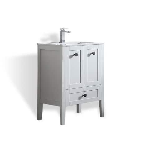 OVE Decors Andora 24 in. Bathroom Vanity in Matte White