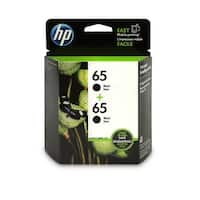 HP 65 Black Original Ink Cartridge, 2 Cartridges (1VU22AN)