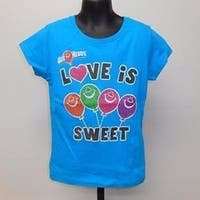 """Air Heads """"Love Is Sweet"""" Candy Graphic Tee Youth Girls Size 5 T-Shirt 67Hk"""