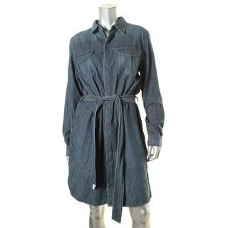 Lauren Ralph Lauren Womens Shirtdress Denim Long Sleeve