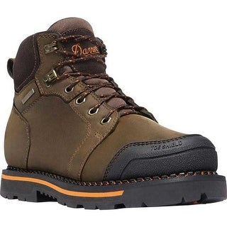 "Danner Men's Trakwelt 6"" Non-Metallic Toe Work Boot Brown Full Grain Leather"
