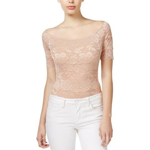 Guess Womens Dara Bodysuit Lace Stretch
