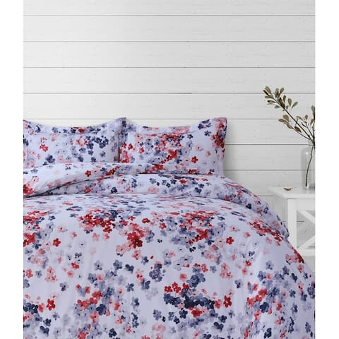 Azores Home Floral Printed Oversized Duvet Cover Set