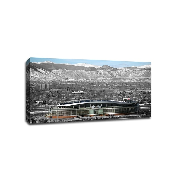 Denver Inside - NFL - Touch of Color - 36x20 Gallery Wrapped Canvas Wall Art ToC