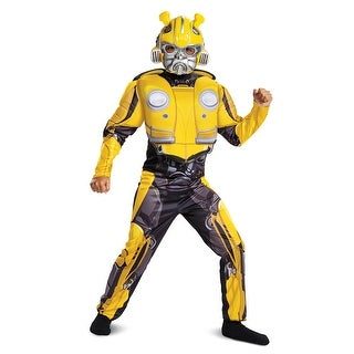 Boys Classic Muscle Bumblebee Movie Costume