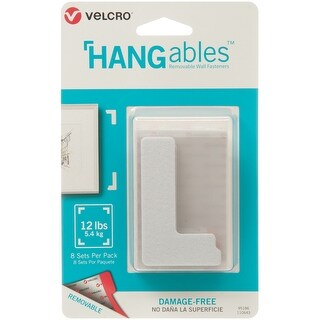 "Velcro(R) Brand Hangables Removable Wall Fasteners 3""X1.75""-8/Pkg, Holds Up To 12Lbs"