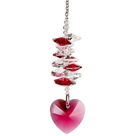Woodstock Chimes WOODCDHP Crystal Heart Cascade Passion