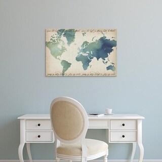 Easy Art Prints Crop's 'Watercolor World Map' Premium Canvas Art