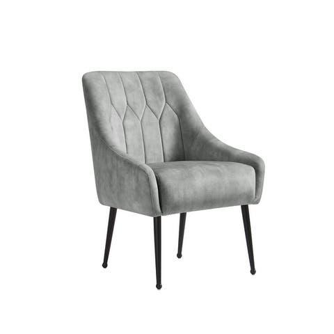 Corvus Abigail Upholstered Accent Chair with Metal Legs