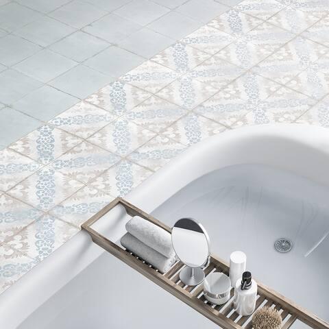 "SomerTile Barcelona Decor Sarria 6"" x 6"" Porcelain Floor and Wall Tile"