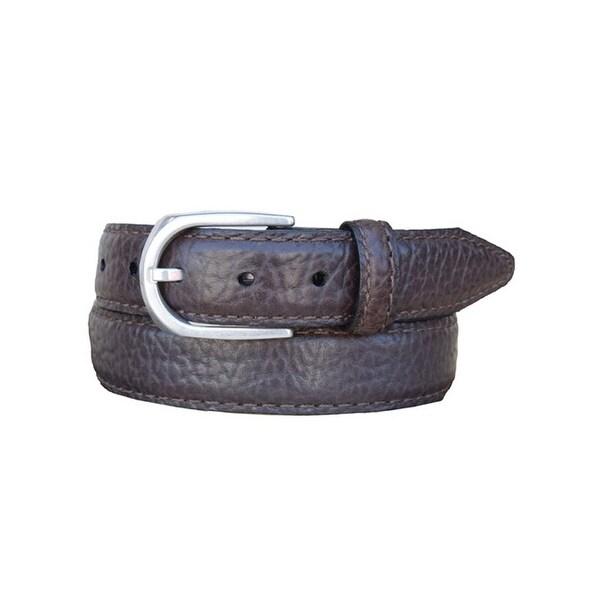 Vintage Bison Western Belt Mens Pinnacle Leather Straps Brown