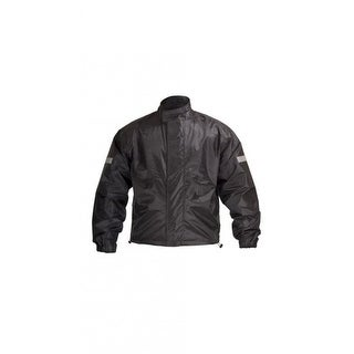 Overstock Motorcycle Biker Road Rain Jacket Black RJ1