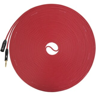 LyxPro - 100 Ft - XLR Male to 1/4 TRS Microphone Cable for Professional Microphones and Devices
