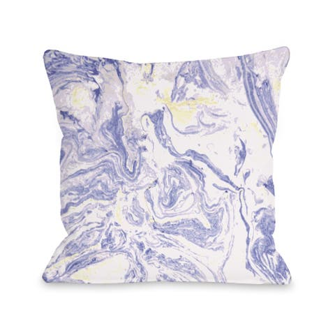 Marble Meadow - Purple Pillow by OBC