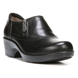 Naturalizer Women's Florence Black Leather Clog/Mulr - Black Leather