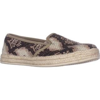 Clarks Azella Theoni Slip-on Loafers, Beige Snake