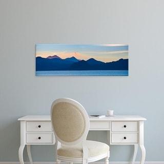 Easy Art Prints Panoramic Image 'Lake, mountains, Lake Atitlan, San Marcos, Western Highlands, Guatemala' Canvas Art