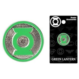 Green Lantern Pewter Lapel Pin Colored Logo - multi