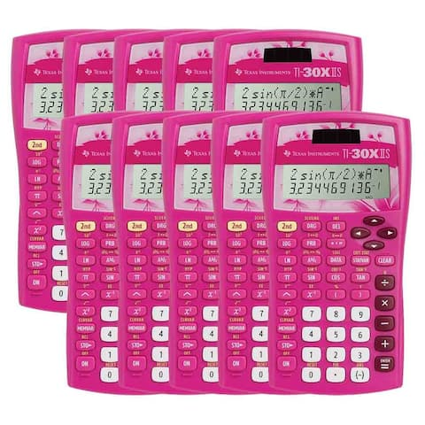 Texas Instruments 30XIIS/TBL/1L1/AN (10-Pack) Texas Instruments TI-30X IIS Scientific Calculator - 10 Digit(s) - LCD - Solar