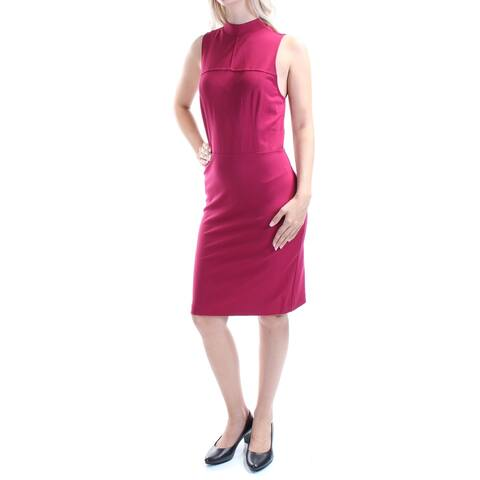 KENSIE Womens Maroon Sleeveless Above The Knee Evening Dress Size S
