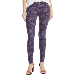 J Brand Womens Colored Skinny Jeans Mid-Rise Paisley