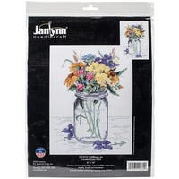 """Wildflower Jar Counted Cross Stitch Kit-8""""X10"""" 14 Count"""