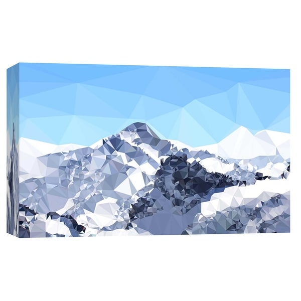 """PTM Images 9-102199 PTM Canvas Collection 8"""" x 10"""" - """"Faceted Snowy Peak"""" Giclee Mountains Art Print on Canvas"""