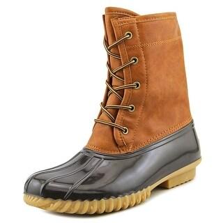The Original Duck Boot Arianna Women  Round Toe Synthetic Tan Rain Boot