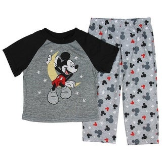 Disney Mickey Mouse Little Boys' Toddler On The Moon 2-Piece Pajama Set