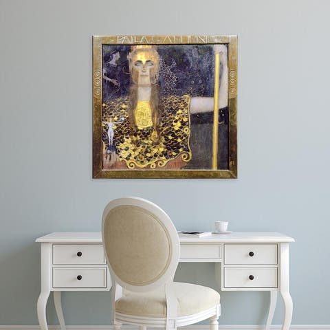 Easy Art Prints Gustav Klimt's 'Pallas Athena' Premium Canvas Art