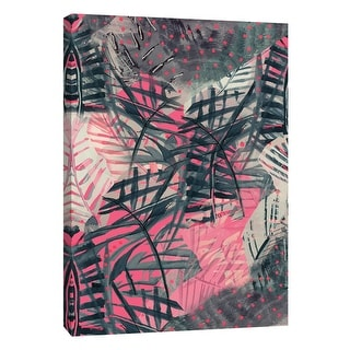 """PTM Images 9-105183  PTM Canvas Collection 10"""" x 8"""" - """"Tropical Neon"""" Giclee Abstract Art Print on Canvas"""